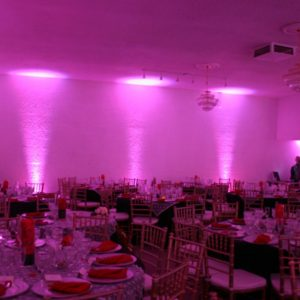 Oxford Disco and Karaoke Pink Uplighting