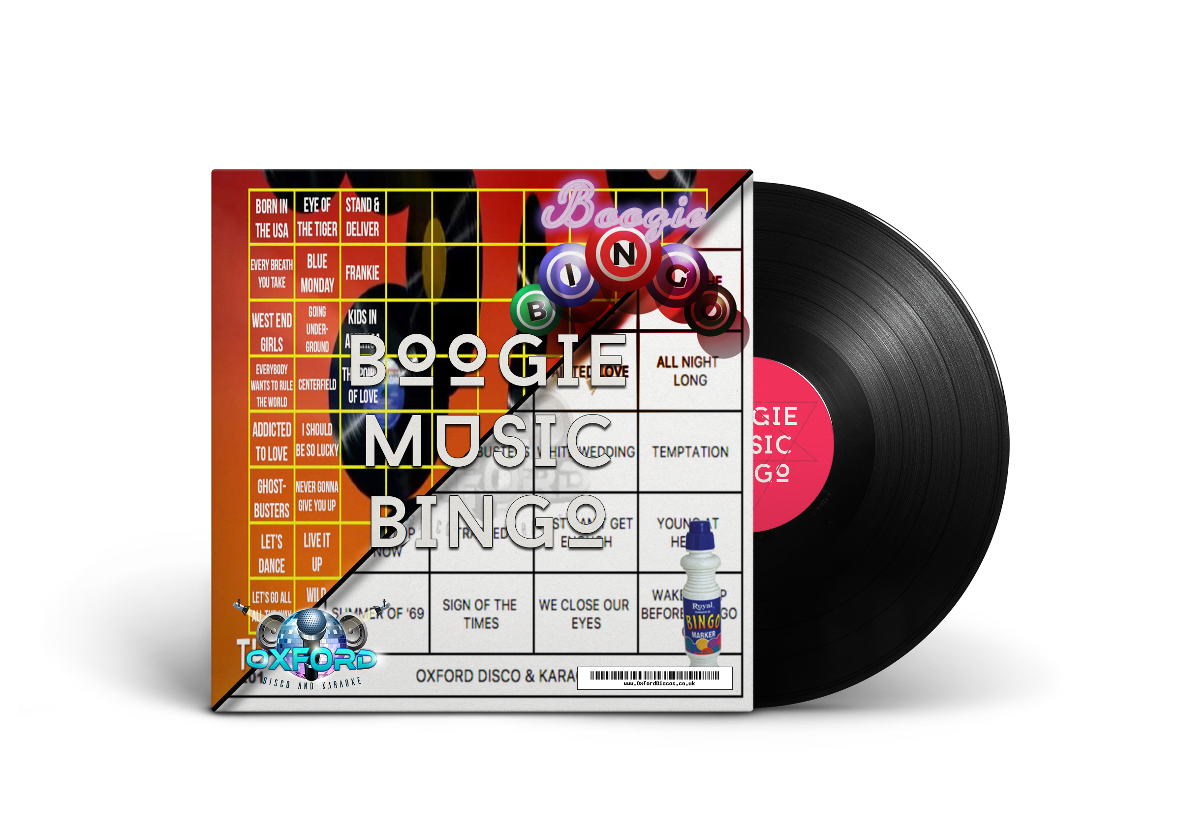 Boogie Music Bingo - Oxford Disco And Karaoke
