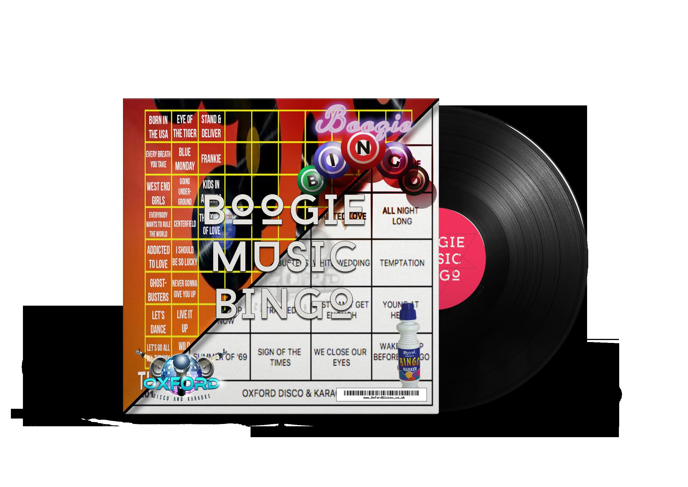 Boogie Music Bingo - Oxford Disco And Karaoke