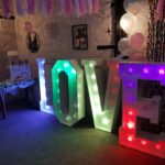 Oxford Disco and Karaoke in Oxfordshire - Giant Love Letters Multi-Coloured Rainbow