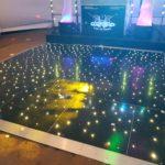 Oxford Disco And Karaoke In Oxfordshire Wedding Set Up Black Starlit Dance Floor