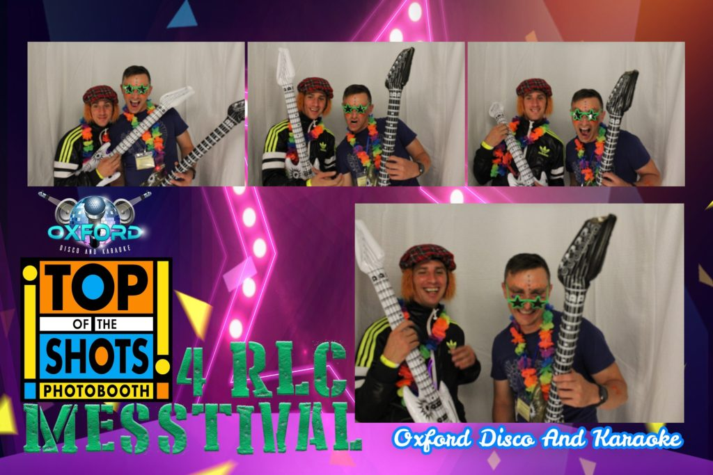 Oxford Disco and Karaoke in Oxfordshire - Top top of the Shots Photo Booth - Army Festival Template