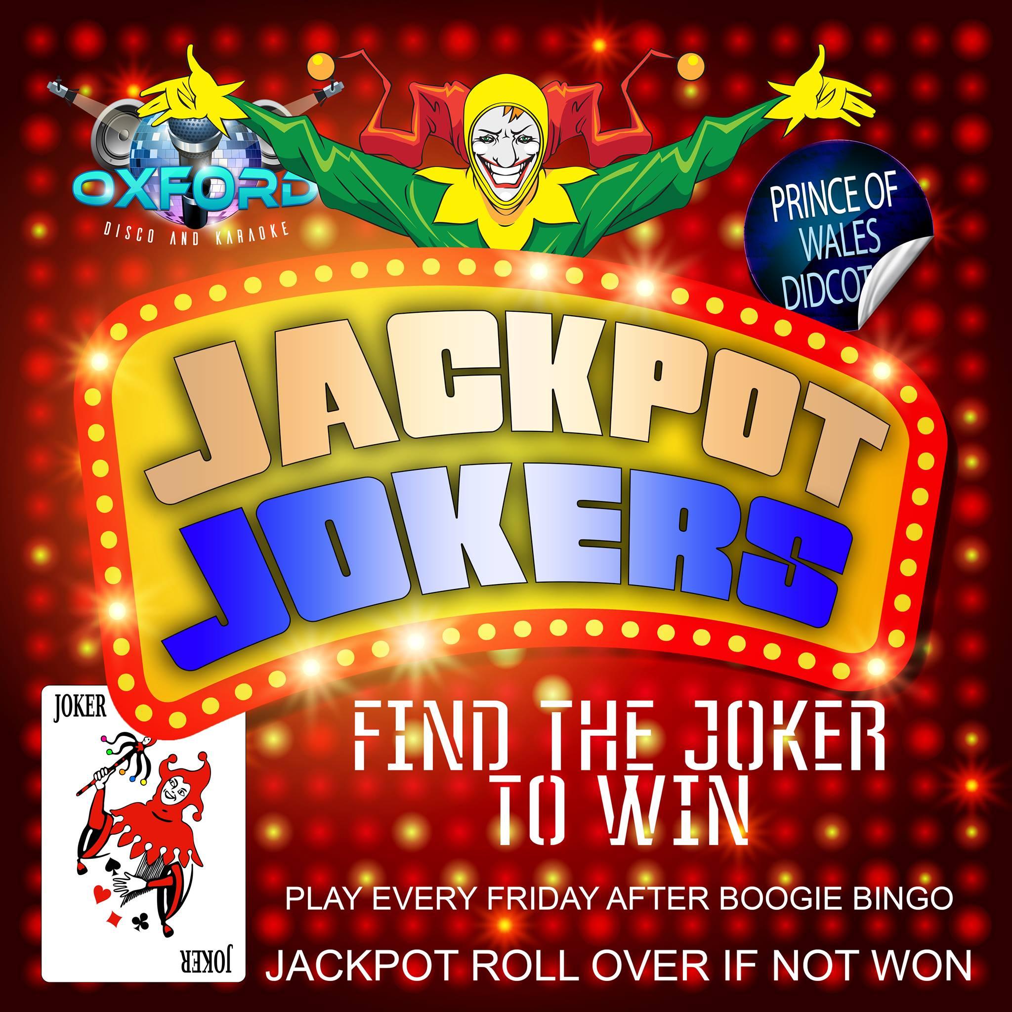 Oxford Disco and Karaoke in Oxfordshire - Boogie Music Bingo Side Game Jackpot Jokers