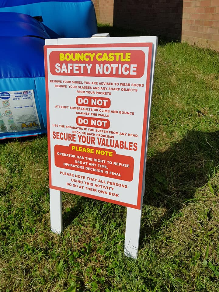 Oxford Disco and Karaoke in Oxfordshire Bouncy Castle Safety Rules