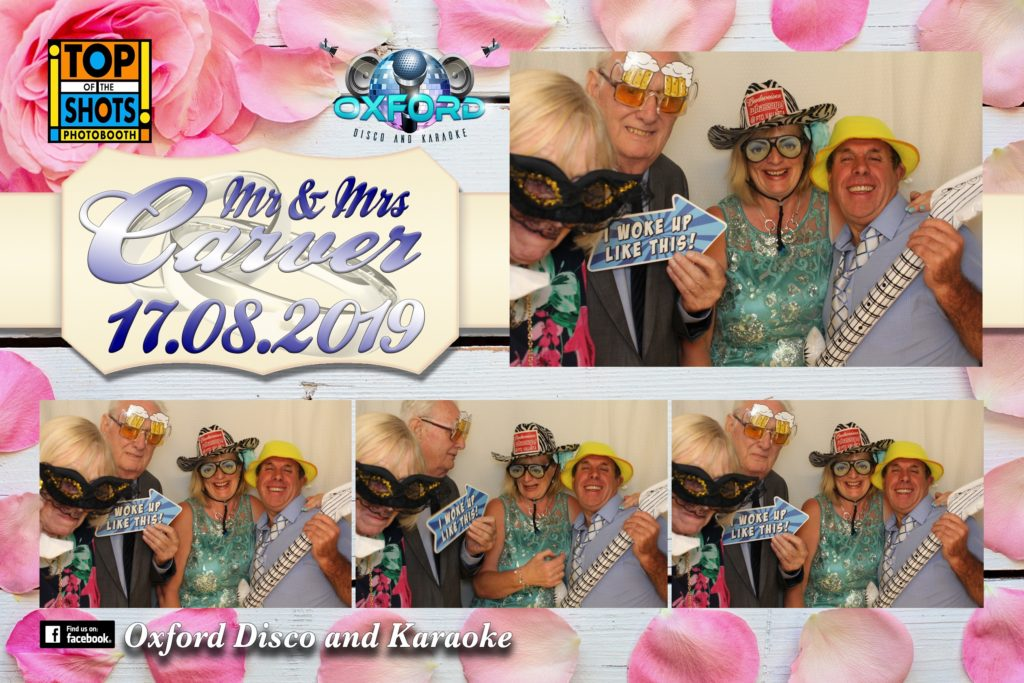 Oxford Disco and Karaoke in Oxfordshire - Top top of the Shots Photo Booth - Wedding Template