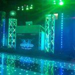 Oxford Disco and Karaoke in Oxfordshire Star Lit Black & White Strip - Green LED