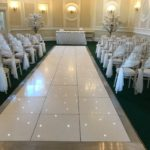 White LED Aisle Ceremony - Oxford Disco and Karaoke in Oxfordshire