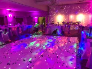 Oxford Disco and Karaoke in Oxfordshire Star Lit Dance Floor White