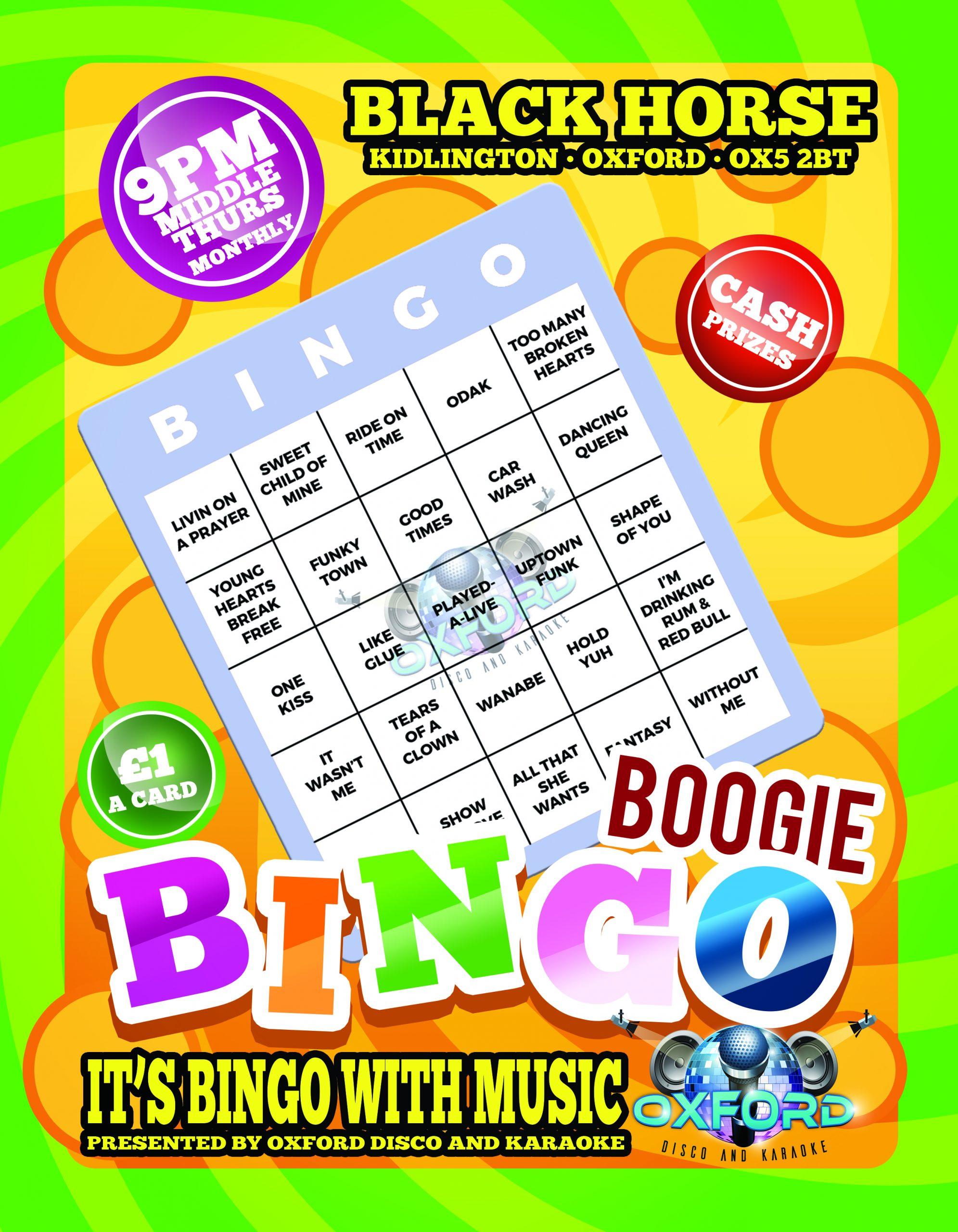 Oxford Disco and Karaoke - Black Horse Boogie Bingo Outside
