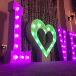Oxford Disco And Karaoke In Oxfordshire - Giant LOVE Letters (L - HEART - O - V - E)