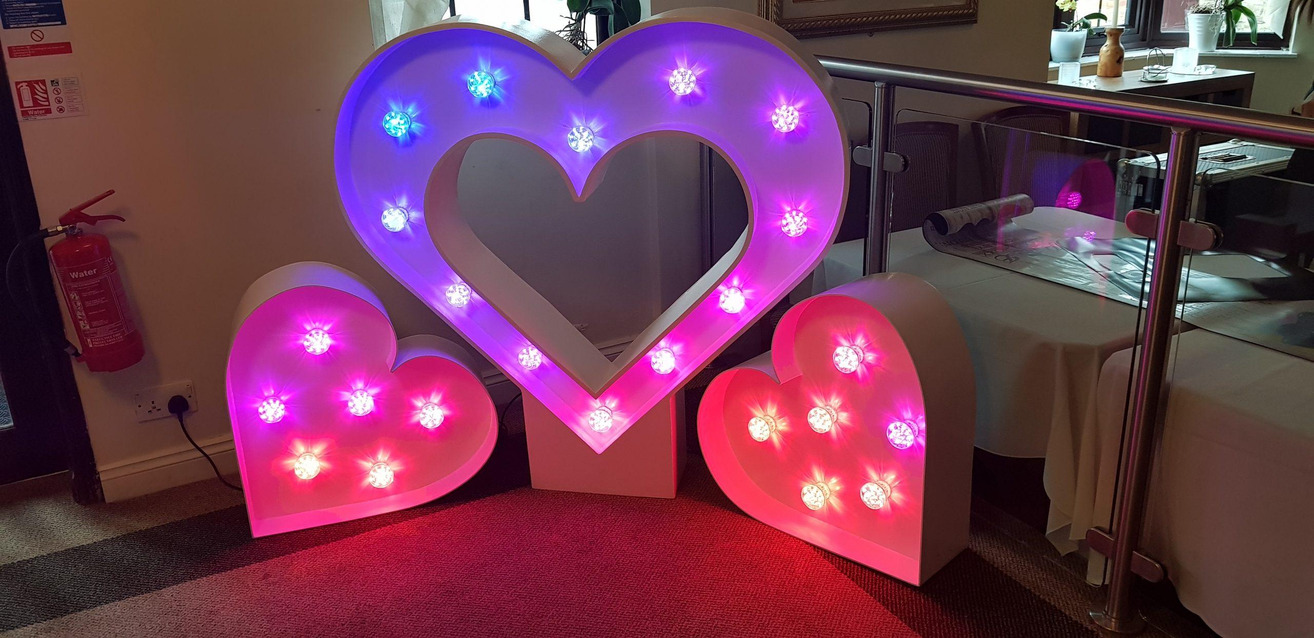 Giant LED Love Hearts