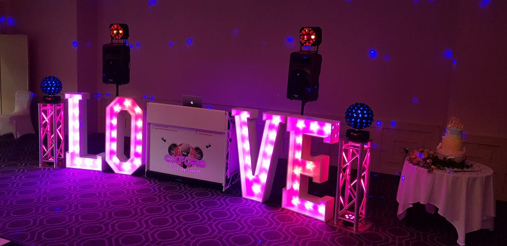 Oxford Disco and Karaoke - White Disco and Giant Love Letters
